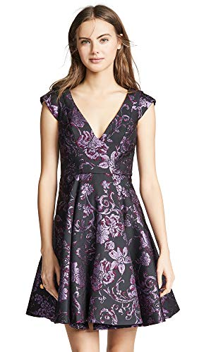 Zac Posen Women's Zac Zac Posen Hope Dress, Plum Multi, 2