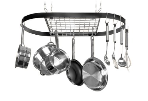 Kinetic Classicor Series Wrought-Iron Oval Ceiling Pot Rack 12021