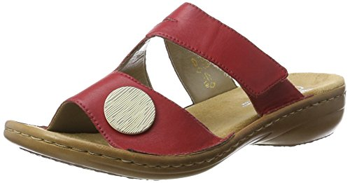 rosso 33 Rieker Femme Mules 60883 Rouge qw7IP
