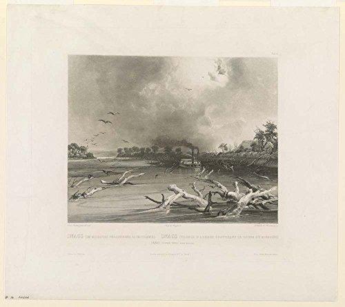 Snags (im Missouri versunkene Baumstämme) - Snags (troncs d'arbres obstruant le cours du Missouri) - Snags (sunken trees on the Missouri)