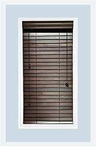 Custom made premium real wood horizontal for 20 inch window blinds