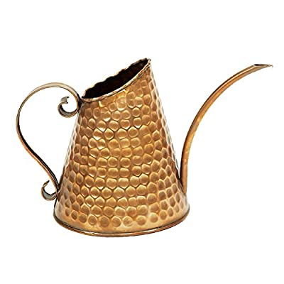 Achla Designs Dainty Hammered Copper Watering Can, 3 pint
