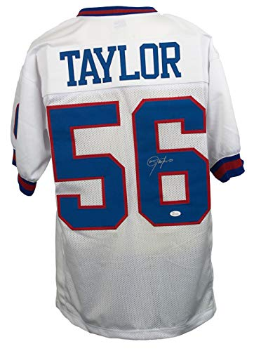 Lawrence Taylor Signed Custom White Pro-Style Football Jersey JSA