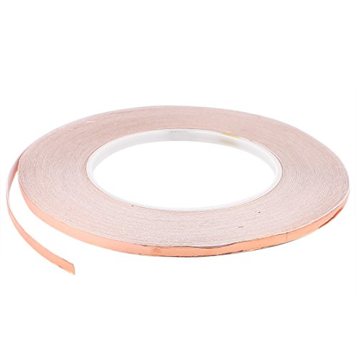 Uxcell a15071800ux0273 5mm x 50m Roll EMI Copper Foil Heating Duct Adhesive Sealing Tape