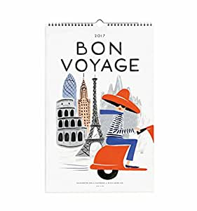 Rifle Paper Co 2017 Wall Calendar (Wall Calendar, Bon Voyage)