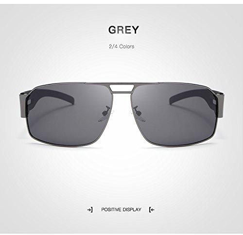sol de sol protección de Gafas moda Polaroid Gafas Gafas UV400 Vintage de ultravioleta de de sol de hombre grandes Ruanyi Espejo Gafas Gafas conducción gafas Mujer para de adultos Gray Unisex para sol qS1S6