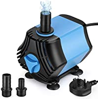 Zacro Submersible Water Pump with Filter 650L/H 10W Multi-function Mini Fountain Water Pump Ultra-Quiet IPX8 2...