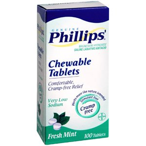 Special pack of 6 PHILLIPS Tab CHEWABLE MINT 100 Tablets
