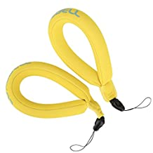 Luxebell Waterproof Camera Float, Universal Floating Wrist Strap for GoPro, Nikon, Canon, Sony,Pentax,Camcorders,Panasonic, Keys and Sunglasses (Yellow)