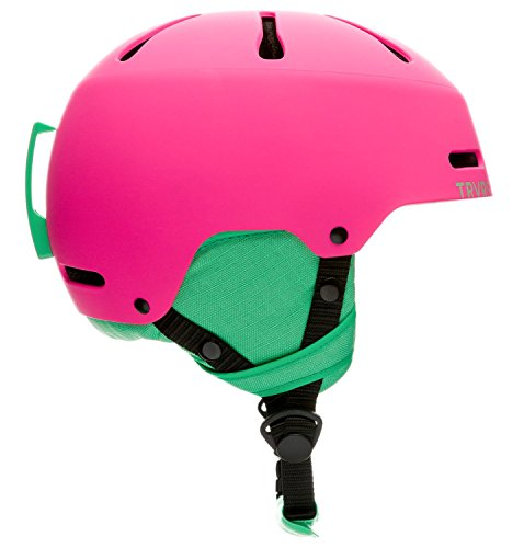 Traverse Sports Youth Ski/Snowboard/Snowmobile Helmet, Matte Magenta, Small, 52-55cm