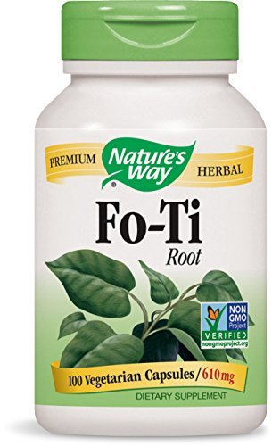 Fo Ti Root 100 Caps - Nature's Way Fo-Ti Root, 610 Milligrams, 100 Vegetarian Capsules. Pack of 6 Bottles