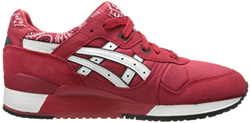 III GEL ASICS Men's White Sneaker Lyte Red w55tr