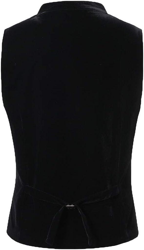 Gilet Uomo Casual Solid Vest Blazer Cotone Slim Fit Gilet Eleganti Senza Maniche Sartoriale Giacca Monopetto Affari Matrimonio Cocktail Suit Tuxedo Festa di Carnevale Cerimoniale Party Camicia