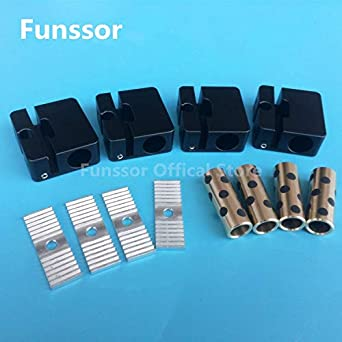 HEASEN 4 piezas Ultimaker 2 deslizador de cruz de aluminio + ...
