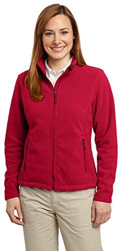Port Authority Ladies Value Fleece Jacket, True Red, Small