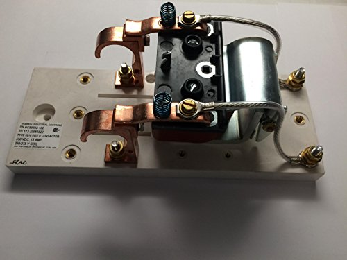 Hubbell Contactor Bull 5210 NEMA Size 0 15 AMP/300 Volt DC C 2 Pole Normally Open 230/275 Volt DC Control W/O Arc Shield Copper Tips aka A-59502 & 59302-102: HC59302102 by Hubbell