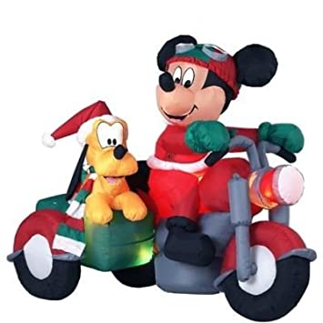 rare disney 6 ft gemmy christmas airblown inflatable mickey mouse and - Mickey Mouse Christmas Lawn Decorations
