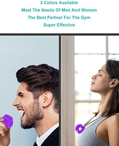 Jaw Exerciser, 2021Jawline Exerciser Face and Neck Toning Ball Equipment, Define Your Jawline, Slim and Tone Your Face, Look Younger and Healthier, jawline Exerciser for Women and Men (Purple) 5
