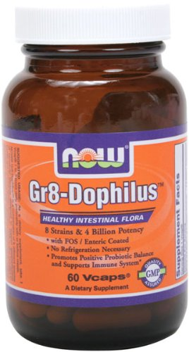 NOW Foods Gr 8 Dophilus Enteric Coated, 60 Vcaps