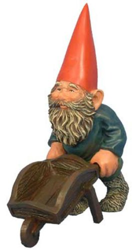 Woodland Garden Gnome - Al with Wheelbarrow (Medium)