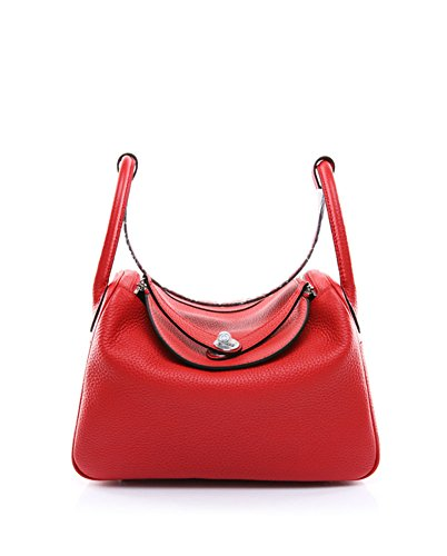 Ainifeel Women's Genuine Leather Shoulder Handbag And Purse Hobo Bag (Red) by Ainifeel