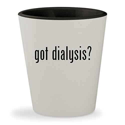 got dialysis? - White Outer & Black Inner Ceramic 1.5oz Shot Glass