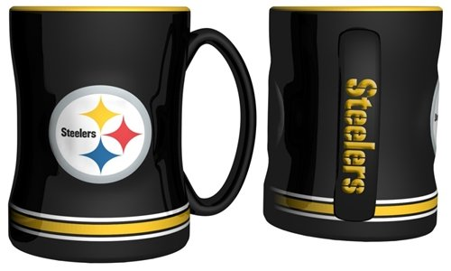 Hall of Fame Memorabilia Pittsburgh Steelers Coffee Mug - 15oz Sculpted