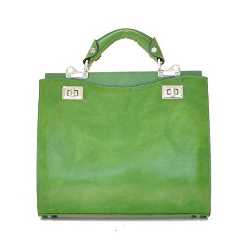 Pratesi Anna Maria Luisa de' Medici mediana bolsa - R150/32 Radica (Crema) Verde