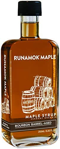 - Runamok Maple, Bourbon Barrel Aged Organic Vermont Maple Syrup, 8.45 Ounce, 250mL