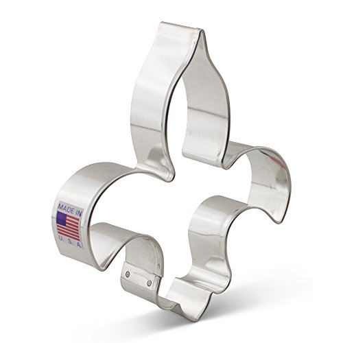Fleur de Lis Cookie Cutter - Ann Clark - 4.75 Inches - US Tin Plated Steel