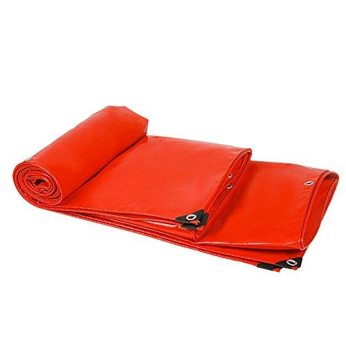 瞑想的ロマンス弾薬QIANGDA トラックシート荷台カバー防水シート防水PVC耐寒性トラックカバー、-500g/m²、赤、厚さ0.5mm、マルチサイズオプション、サイズカスタマイズ可能 (サイズ さいず : 5 x 3m)