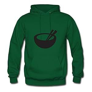 Women Rice Bowl Personalized Speacial Cotton Green Sweatshirts X-large