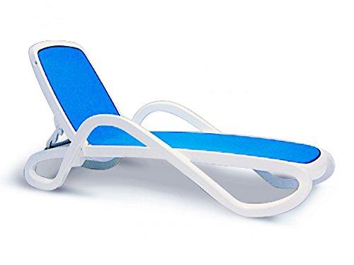 BEST 18410000 Stapelliege Alfa, weiß / blau