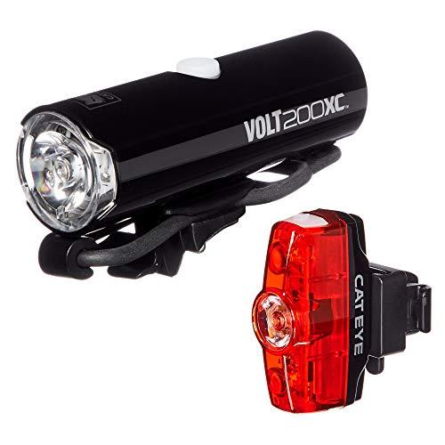 CAT EYE - Volt 200 XC Rechargeable Headlight and Rapid Mini Rear Bike Light