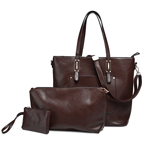 Women Messenger Bag PU Leather Crossbody Satchel Shoulder Handbag - 6