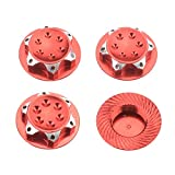 ShareGoo 4Pack Wheel Hub Cover Anti-dust Cover 17mm Dust Lock Nuts Self-Lock Adapter for 1/8 Scale RC Buggy Off-Road Truck HSP Redcat LOSI Team-C Wheel & Rims Nut,Red