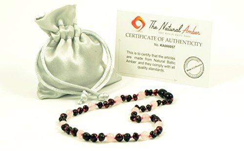 品質が Amber Teething Necklace for (13.4 Baby - Unisex - from Teething Amber Jewelry - Hand-Made from Certified Genuine Baltic Amber Beads (13.4 Inch (34cm) Cherry/Quartz) [並行輸入品] B077QHSS2N, Lafsオンラインストア:e8205d94 --- a0267596.xsph.ru