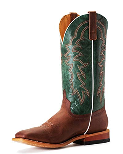 Horse Power by Anderson Bean HP1837 Sugared Honey Turquoise Vail Square Toe Boots (11EE)