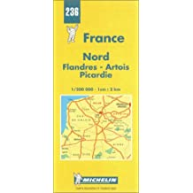 Michelin Nord (Flandres/Artois/Picardie), France Map No. 236
