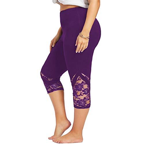 Farmerl 2019 Women Lace Plus Size Skinny Pants Yoga Leggings Trousers XL-5XL