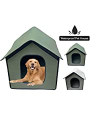 Pet Outdoor House,Cat Small Dog Cosy Cube Igloo Bed,Weatherproof Cat House Foldable Pet Shelter for Small Medium Large Dogs and Cats, Portable Waterproof Pet Tent