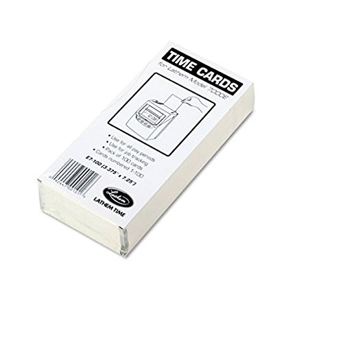 LTHE7100 - Time Card for Lathem Model 7000E