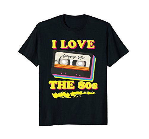 Mens Funny 1980s Mix Tape Costume Halloween Party Theme T-shirt Medium -