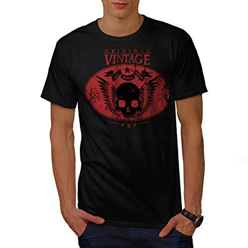Bad Bones Crew Skull Vintage Fly Men NEW S T-shirt | Wellcoda ()