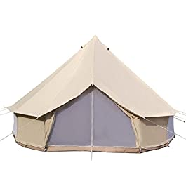 Dream House Luxury Outdoor Waterproof Four Season Family Camping and Winter Glamping Cotton Canvas Yurt Bell Tent with…