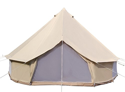 Dream-House-Luxury-Outdoor-Waterproof-Four-Season-Family-Camping-and-Winter-Glamping-Cotton-Canvas-Yurt-Bell-Tent-with-Mosquito-Screen-Door-and-Windows