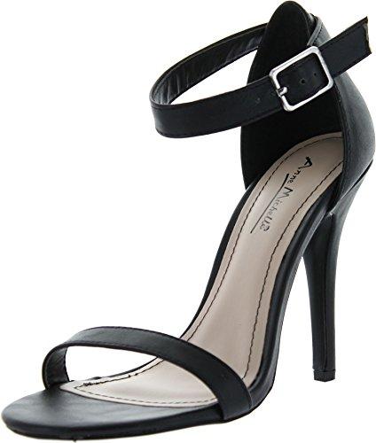 Anne Michelle Womens Enzo-01N Pumps ShoesBlack Crp7