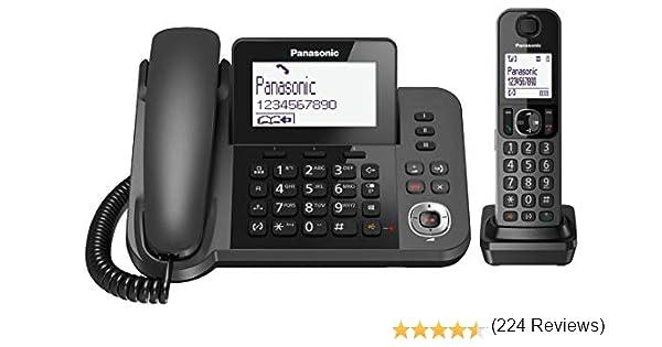 Panasonic KX-TGF320E DECT Identificador de Llamadas Negro - Teléfono (Teléfono DECT, Altavoz, 100 entradas, Identificador de Llamadas, Negro) [versión importada]: Amazon.es: Electrónica