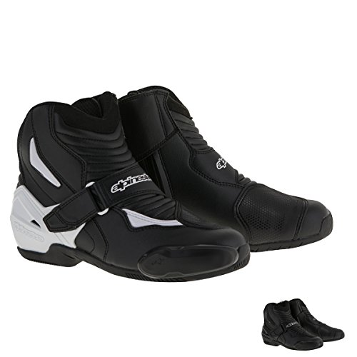 Alpinestars SMX-1R Men's Street Motorcycle Boots - Black/White / 42