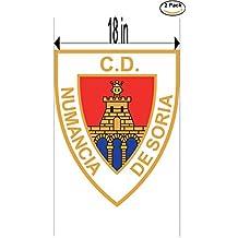 fan products of Club Deportivo Numancia de Soria Spain Soccer Football Club FC 2 Stickers Car Bumper Window Sticker Decal Huge 18 inches